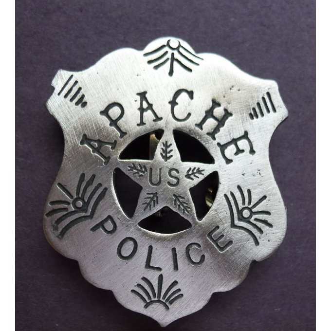 Badge Police Indienne Apache