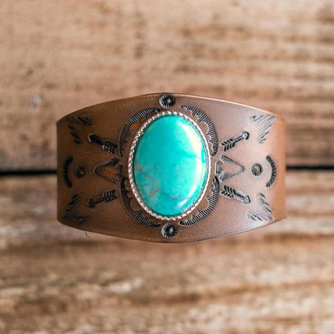 "Manchette turquoise ""Concho"""