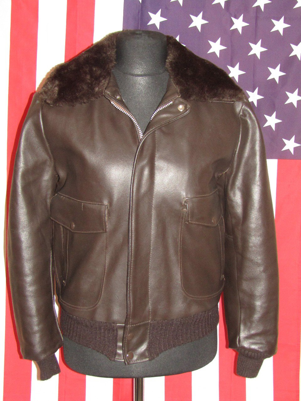 EXCELLED : Blouson cuir Moto Bomber Size S