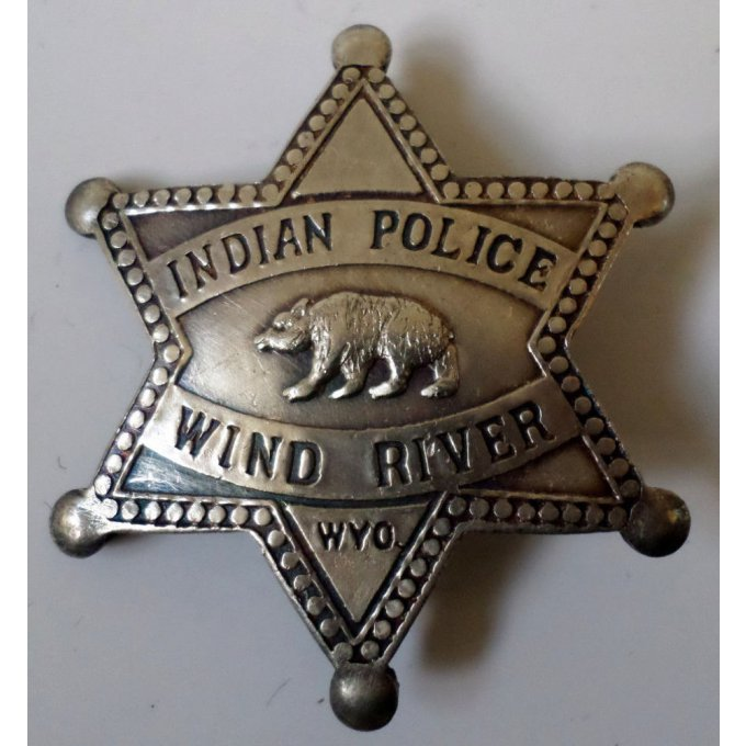 Badge Police Indienne Reserve Wind River Wyoming