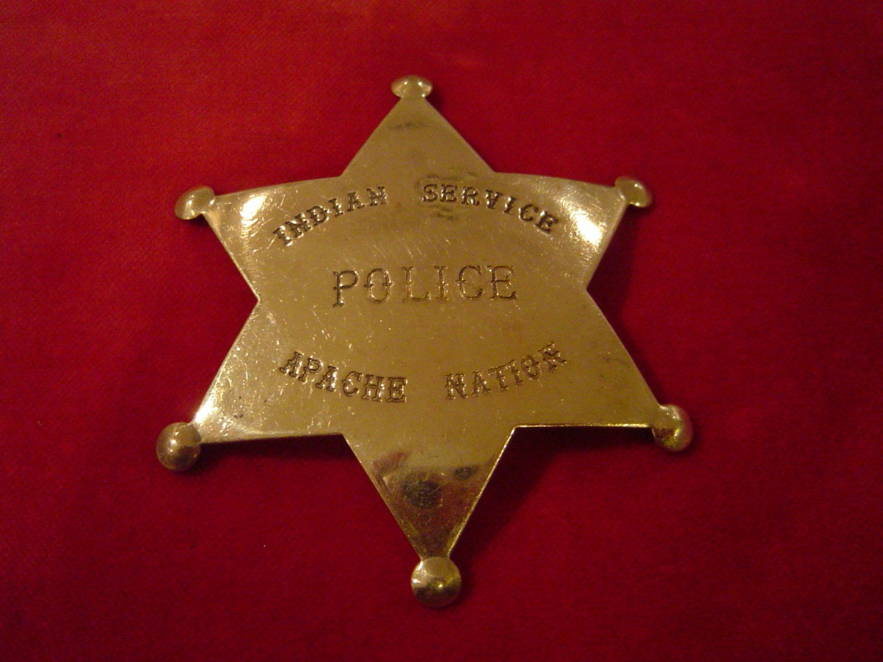 Badge Police US Indienne Nation Apache