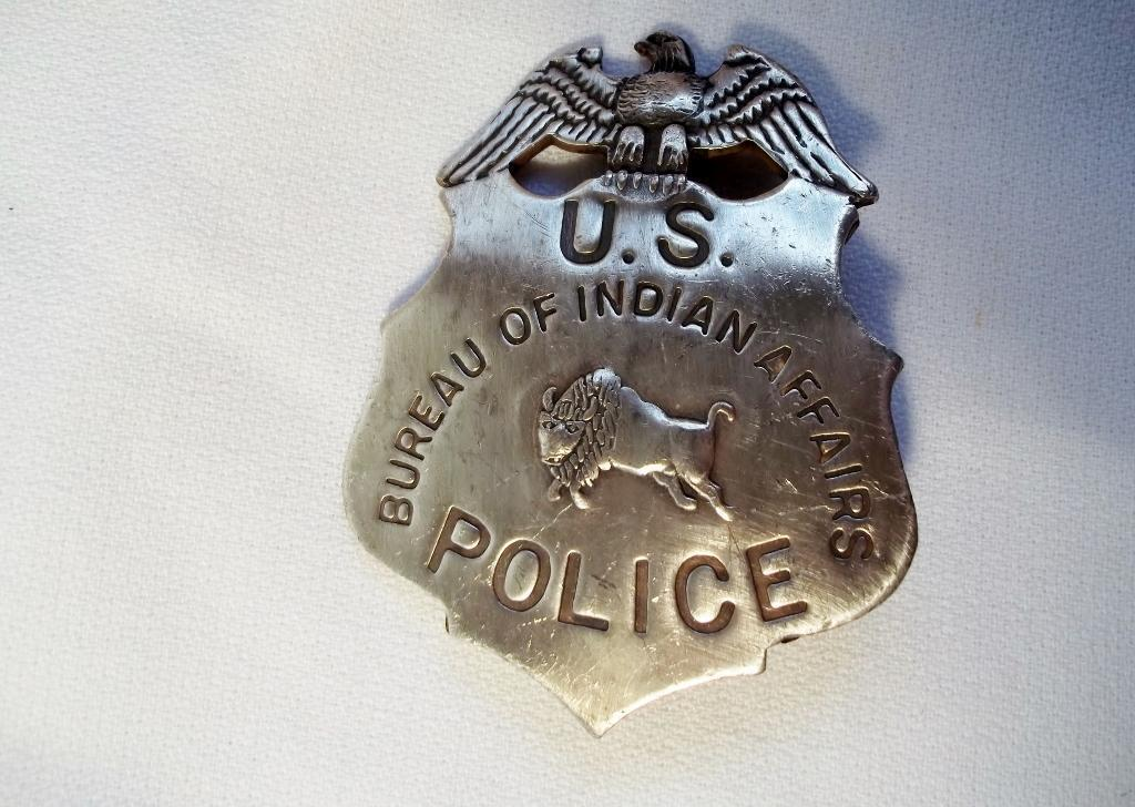 Badge Police Bureau des affaires indiennes